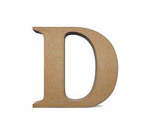 Letra MDF Cru - D - 12x10cm - Rizzo Embalagens
