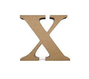 Letra MDF Cru - X - 12x10cm - Rizzo Embalagens