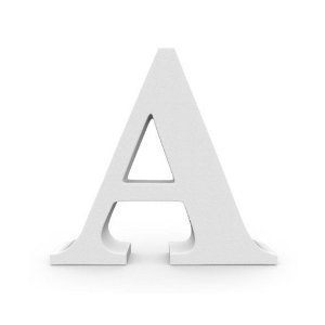 Letra MDF Branca - A - 12x10cm - Rizzo Embalagens