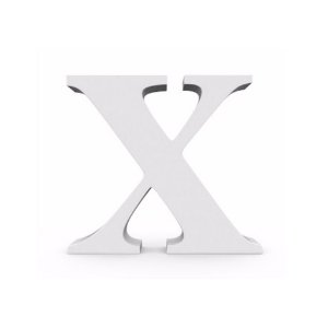 Letra MDF Branca - X - 12x10cm - Rizzo Embalagens