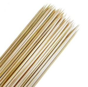 Palito de Bambu Para Churrasquinho - 40 Unidades - Rizzo Embalagens
