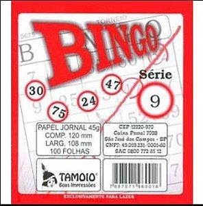 Cartela Para Bingo Papel Jornal - 100 folhas - Tamoio - Rizzo Embalagens