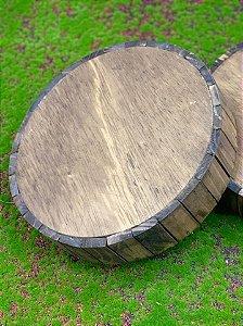 Tronco Decorativo em Madeira Rústico - 27cm - Rizzo Embalagens