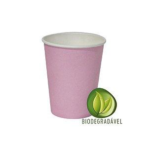 Copo em Papel Biodegradável Rosa Bebê 240ml - 10 unidades - Silverplastic - Rizzo Festas