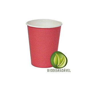 Copo em Papel Biodegradável Vermelho 240ml - 10 unidades - Silverplastic - Rizzo Festas