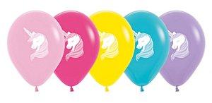 Balão de Festa Latex R12'' 30cm - Sortido Unicórnio - 12 unidades - Sempertex Cromus - Rizzo Festas