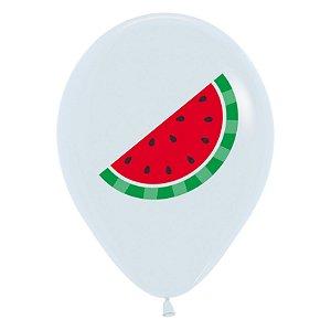 Balão de Festa Latex R12'' 30cm - Fashion Melancia - 60 unidades - Sempertex Cromus - Rizzo Festas