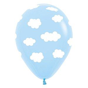 Balão de Festa Latex R12'' 30cm - Fashion Nuvem - 12 unidades - Sempertex Cromus - Rizzo Festas