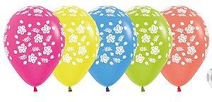 Balão de Festa Latex R12'' 30cm - Neon Havaiano Sortido - 05 unidades - Sempertex Cromus - Rizzo Festas