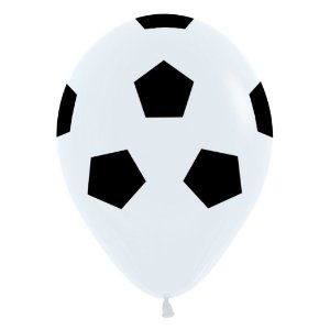 Balão de Festa Latex R12'' 30cm - Fashion Bola de Futebol - 12 unidades - Sempertex Cromus - Rizzo Festas