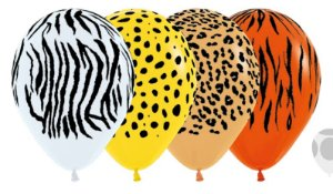Balão de Festa Latex R12'' 30cm - Fashion Selva Sortido - 60 unidades - Sempertex Cromus - Rizzo Festas