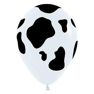 Balão de Festa Latex R12'' 30cm - Fashion Vaca - 60 unidades - Sempertex Cromus - Rizzo Festas
