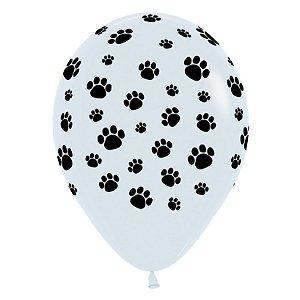 Balão de Festa Latex R12'' 30cm - Fashion Pegadas - 12 unidades - Sempertex Cromus - Rizzo Festas
