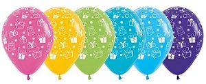 Balão de Festa Latex R12'' 30cm - Fashion Presentes Sortidos - 50 unidades - Sempertex Cromus - Rizzo Festas