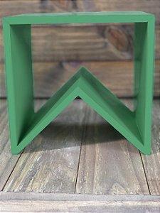 Suporte para Doces em Madeira Bandeirinha Rústico Verde - 20cm x 20cm - Rizzo Embalagens