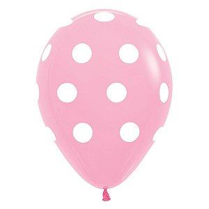 Balão de Festa Latex R12'' 30cm - Fashion Rosa - 60 unidades - Sempertex Cromus - Rizzo Festas