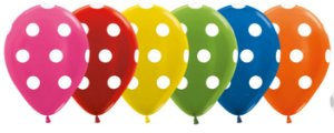 Balão de Festa Latex R12'' 30cm - Polka Dot Metal Sortido - 12 unidades - Sempertex Cromus - Rizzo Festas