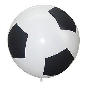 Balão de Festa Latex R36'' 91,5cm - Fashion Bola de Futebol - 02 unidades - Sempertex Cromus - Rizzo Festas