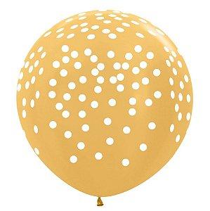 Balão de Festa Latex R36'' 91,5cm - Metal Confetti Preto - 02 unidades - Sempertex Cromus - Rizzo Festas