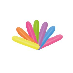"Balão de Festa Twist 260"" 05x150cm - Neon Sortido - 50 unidades - Sempertex Cromus - Rizzo Festas"