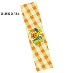 Tiras de Papel Festa Junina Arraiá Amarelo G para Embalagens - 5 Unidades - Rizzo Embalagens