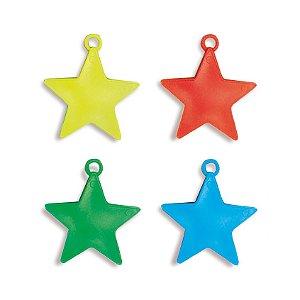 Acessório Peso para Balão Estrelas Sortido 08g - 10 unidades - Cromus - Rizzo Festas