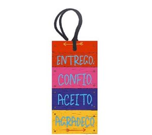 Tag Decorativa MDF Entrego Confio - LitoArte - Rizzo Embalagens