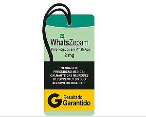 Tag Decorativa MDF WhatsZepam - LitoArte - Rizzo Embalagens