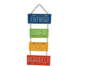 Plaquinha Decorativa MDF Entrego... - LitoArte - Rizzo Embalagens