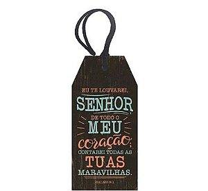 Tag Decorativa MDF Senhor  - LitoArte - Rizzo Embalagens