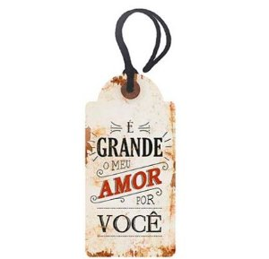 Tag Decorativa MDF É Grande... - LitoArte - Rizzo Embalagens
