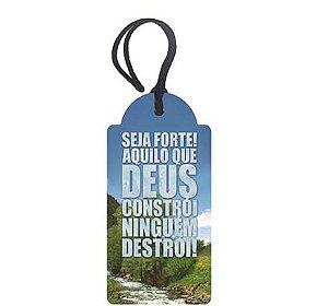 Tag Decorativa MDF Seja Forte...- LitoArte - Rizzo Embalagens