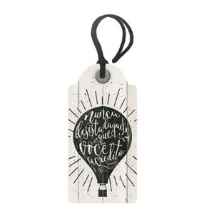 Tag Decorativa MDF Nunca Desista... - LitoArte - Rizzo Embalagens