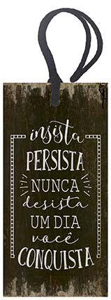 Tag Decorativa MDF Conquista - LitoArte - Rizzo Embalagens