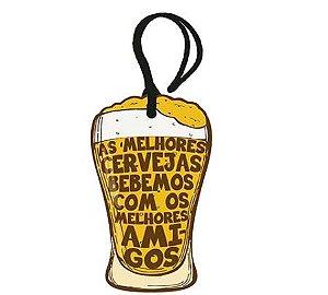 Tag Decorativa MDF Copo de Cerveja - LitoArte - Rizzo Embalagens
