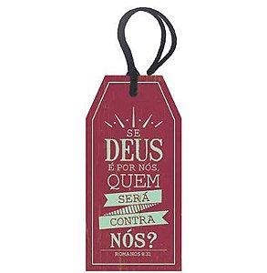Tag Decorativa MDF Se Deus... - LitoArte - Rizzo Embalagens