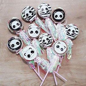 Pirulito Lembrancinha Festa Panda - 10 unidades -  Rizzo Festas