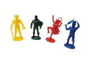 Mini Brinquedo Heróis Colorido Sortido - 6 x 3cm - 12 Unidades - Dodo Brinquedos - Rizzo Embalagens