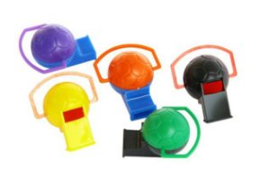 Mini Brinquedo Apito Bola Colorido Sortido - 4 x 3,2cm - 20 Unidades - Dodo Brinquedos - Rizzo Embalagens
