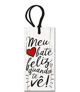 Tag Decorativa MDF Meu Coração... - LitoArte - Rizzo Embalagens