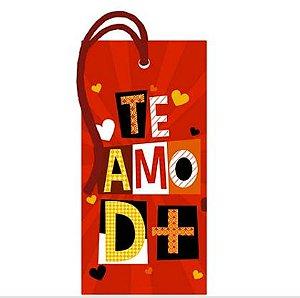 Tag Decorativa MDF Te Amo D+ - LitoArte - Rizzo Embalagens