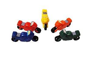 Mini Brinquedo Moto Colorido Sortido - 3,5 x 6,5cm - 15 Unidades - Dodo Brinquedos - Rizzo Embalagens