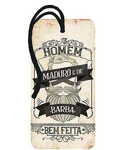Tag Decorativa MDF Homem Maduro - LitoArte - Rizzo Embalagens