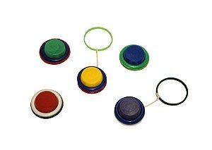 Mini Brinquedo Ioiô Colorido Sortido - 3 x 3cm - 12 Unidades - Dodo Brinquedos - Rizzo Embalagens