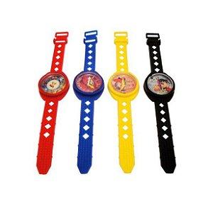 Mini Brinquedo Relógio Colorido Sortido - 3,5 x 19cm - 8 Unidades - Dodo Brinquedos - Rizzo Embalagens