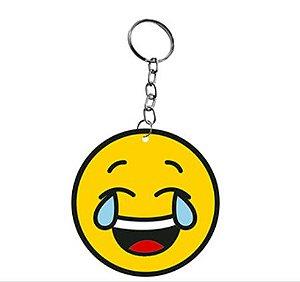 Chaveiro Decorativo MDF Emoji Rindo - LitoArte - Rizzo Embalagens