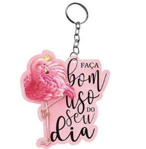 Chaveiro Decorativo MDF Flamingo - LitoArte - Rizzo Embalagens