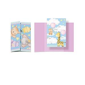Convite Festa Bichinhos Baby - 8 unidades - Cromus - Rizzo Festas