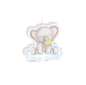 Vela Especial Elefantinho Festa Bichinhos Baby - Cromus - Rizzo Festas