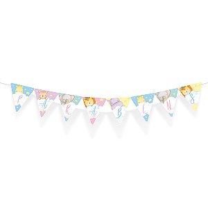 Faixa Parabéns Festa Bichinhos Baby - Cromus - Rizzo Festas